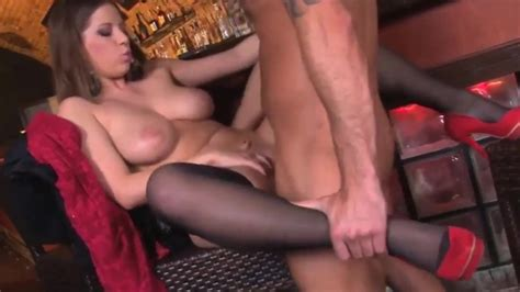 Business Milf In Stockings And Lace Body Fucks In A Bar
