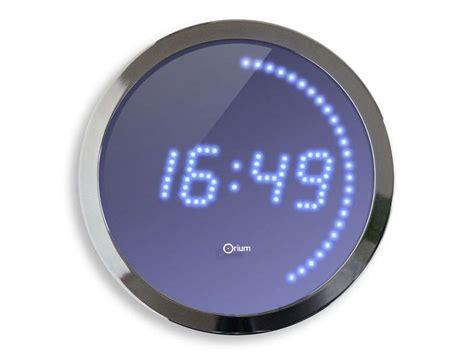 horloge murale digitale led pile horloge led 30 cm led bleue vente de horloge conforama