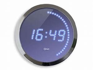 Horloge Murale Led : horloge led 30 cm led bleue vente de horloge conforama ~ Teatrodelosmanantiales.com Idées de Décoration