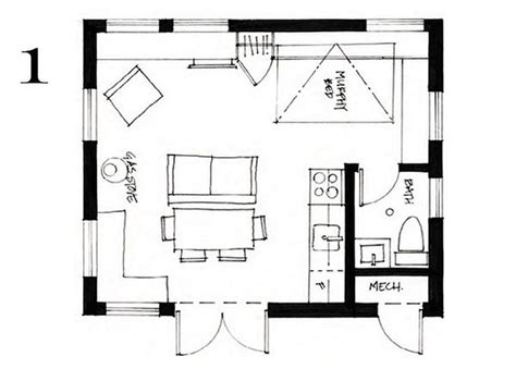 400 Ft2 (37.2 M2) Studio Cottage With Sleeping Loft By