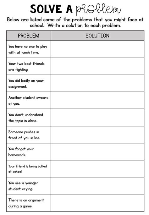 prep printable social emotional learning worksheets