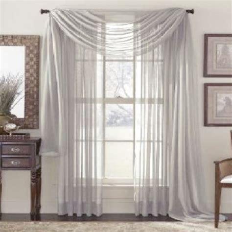 door window curtain drape panel net slot top sheer voile