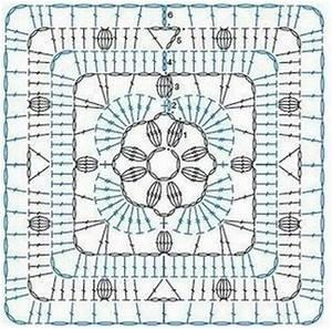 Crochet Diagram  Crochet And Squares On Pinterest
