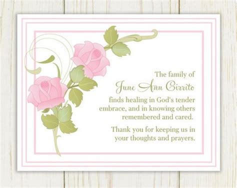 template card for funeral flowers funeral card messages exles morning images