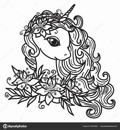 Cartoon Flower Draw Unicorn Flowers 1600