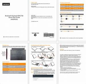 Lenovo Bkc700 Bluetooth Keyboard User Manual