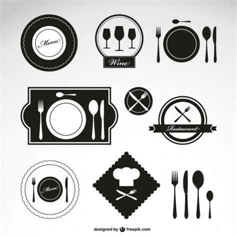 black restaurant logos vector free download