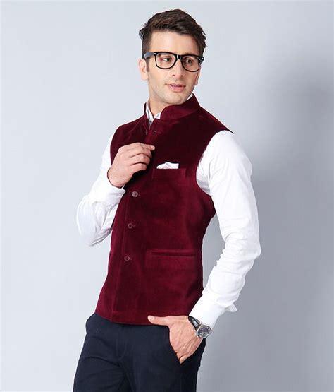 platinum studio maroon nehru jacket buy platinum studio