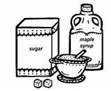 Colorear Zucchero Azucar Dibujos Disegno Coloring Milk Alimenti Pintar Colorare Syrup Colorea Tus Immagine Condividi sketch template