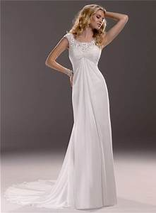 sheath cap sleeve empire waist lace chiffon maternity With empire waist wedding dress maternity