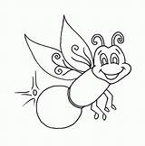 Firefly Pages Coloring Lightning Bug Clipart Glow Fireflies Printable Worm Colouring Print Drawing Outline Sheets Lightening Printables Bugs Draw Pagefull sketch template