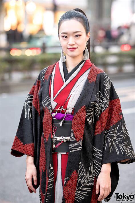 Japanese Street Style w/ Kimono Hazuki Kimono ...