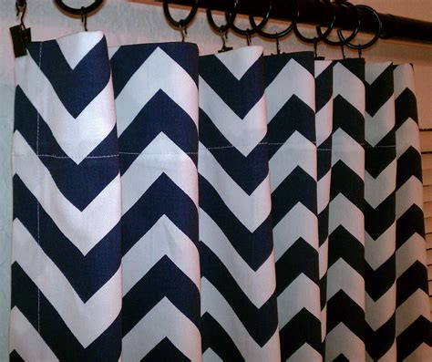 navy chevron curtains pair of navy blue and white zig zag chevron curtains by