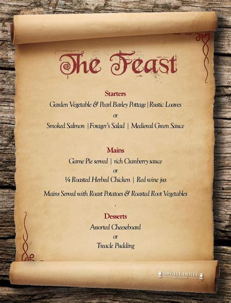 Tudor Menu Template Banquets In Glasgow Argyll Hotel
