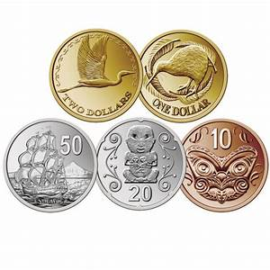 New Zealand Coin Stickers Learning about Money
