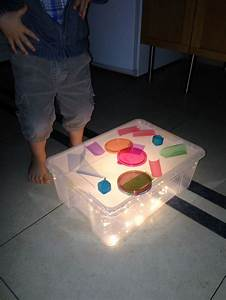 Ikea Guirlande Lumineuse : homemade table lumineuse avec une boite ikea et son couvercle une guirlande leds piles chez ~ Teatrodelosmanantiales.com Idées de Décoration
