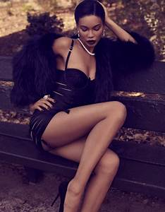 Chanel Iman Wows in Lingerie Looks for Deluxe Magazine ...