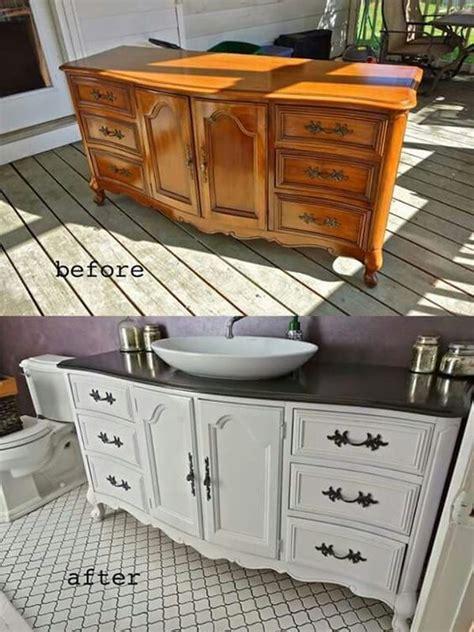 rénover un meuble avec de buffet transformé en meuble de salle de bain
