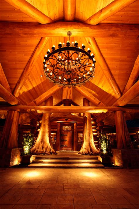 awesome log cabin rustic entry dallas by