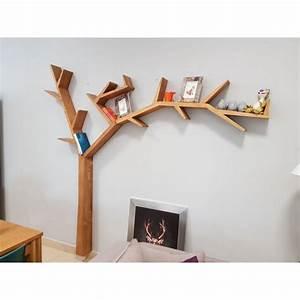 Arbre En Bois Deco : etag re bliblioth que treea en forme d 39 arbre fixer au mur ~ Premium-room.com Idées de Décoration