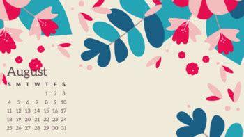 desktop calendars wallpaper august  august  tpt