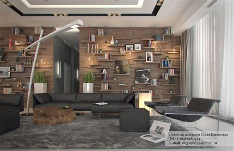 rustic living room wall ideas studio apartment architected by ola kataevskaj
