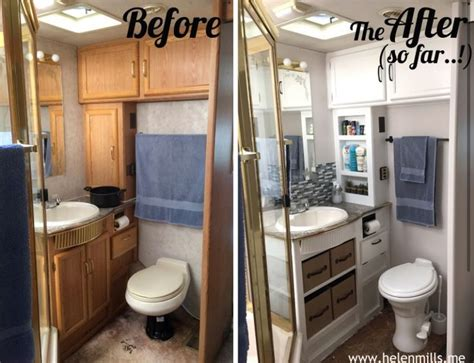 Redo Kitchen Ideas - rv bathroom redo removing the cabinet doors and storage bins is a great idea cing