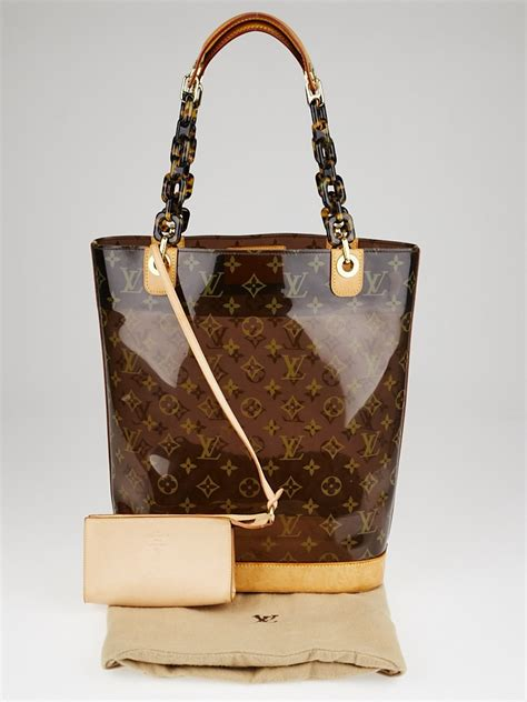 louis vuitton limited edition vinyl monogram ambre mm bag