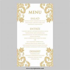 31 best menus images on pinterest invitations wedding With free printable wedding menu card templates