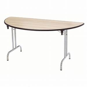 Table Demi Lune Pliante : table pliante demi lune dune 160x80 pi tement chrome ~ Dode.kayakingforconservation.com Idées de Décoration