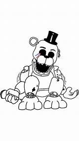 Freddy Fnaf Golden Drawing Nights Pages Five Freddys Colouring Coloring Naf Print Fnaf2 Withered Drawings Animatronics Paintingvalley Clipart Sketch Chica sketch template