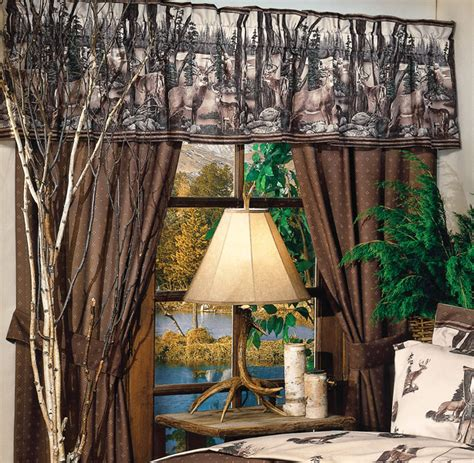 whitetail dreams curtain drapes