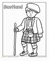Coloring Clothing Traditional Scotland Pages Scottish Education Worksheets Worksheet Kilt Around Cultures Colouring Sheets Different Detailed Children Globe Sheet Many sketch template