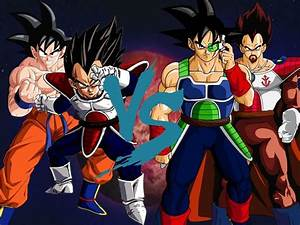 Vegeta y Goku VS King Vegeta y Bardock - YouTube