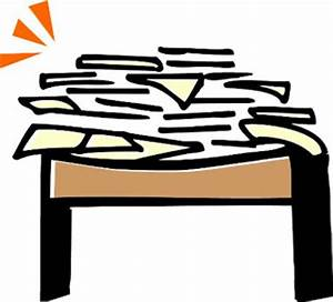 Messy Desk Clipart - Clipart Kid