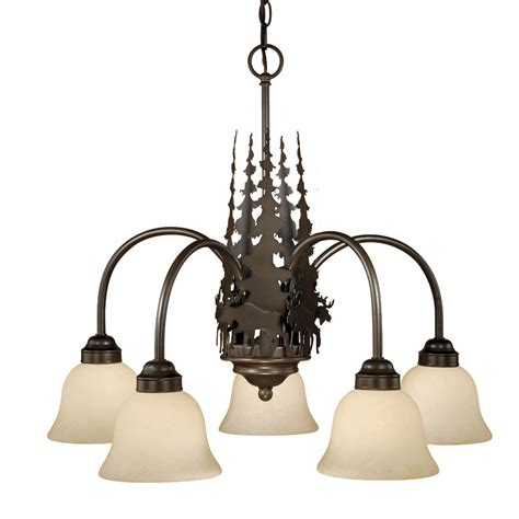 Timberland Lighting by Rustic Chandeliers Timberland Chandelier With 5 Lights