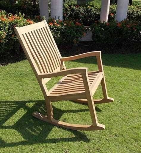 rocker chair grade teak garden outdoor furniture patio