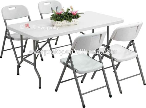 portable folding table and chair set plastic dining table