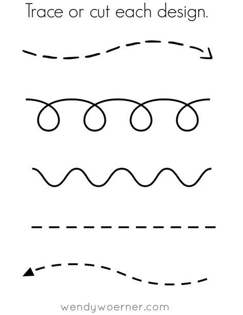 free printable cut trace preschool worksheet