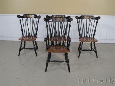 ethan allen dining room chairs ebay f34638 set of 4 ethan allen hitchcock style