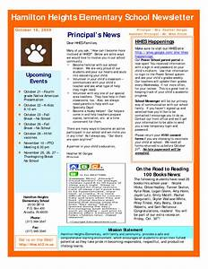 Best photos of sample school newsletter templates free for Primary school newsletter templates