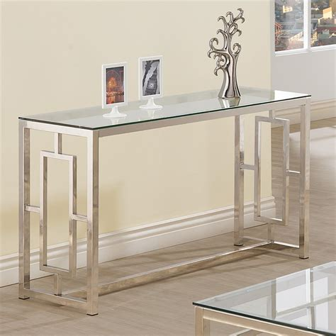 Sofa Table Contemporary by Coaster Contemporary Glass Top Sofa Table Console Tables
