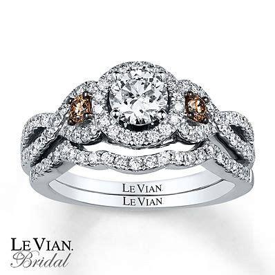 le vian bridal set 1 1 5 ct tw diamonds 14k vanilla gold