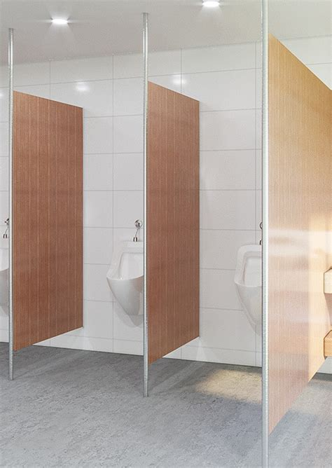 urinal privacy screen post supported toilet