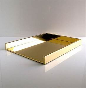 Brass desk letter tray 1970s 1980s gold gucci style for Desk letter tray