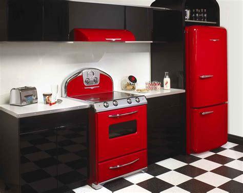 Unique Red Vintage Kitchen The Reviving Style