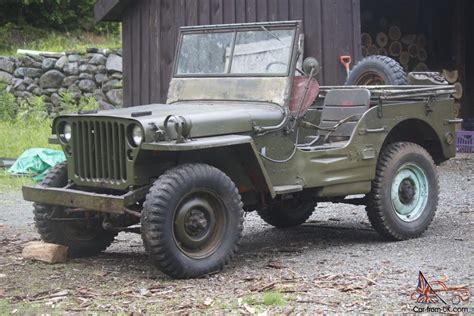 jeep military 1945 willys jeep 1945 willys mb military jeep for sale