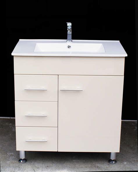 metal leg bathroom vanity artemis wpl750li 750mm ivory color polyurethane bathroom vanity unit with white ceramic basin on