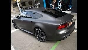 Le cambiarías el color a tu Audi RS7 a Gris Grafito Mate