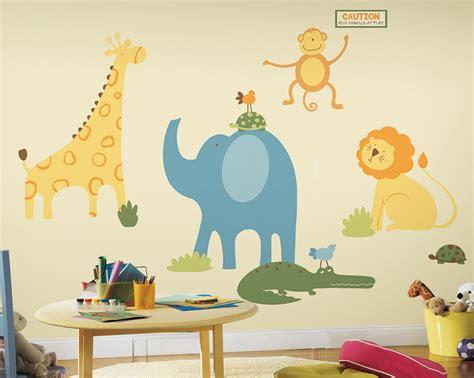 Wandtattoo Kinderzimmer Zootiere by Roommates Wandsticker Wandtattoo Zootiere Kinderzimmer